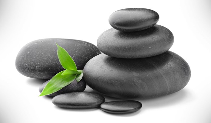 Stones massage the feet meridians to rid your body of toxins.