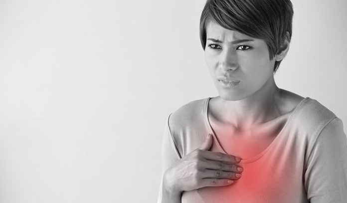Breast pain may be caused by mastitis, which is common in lactating women.