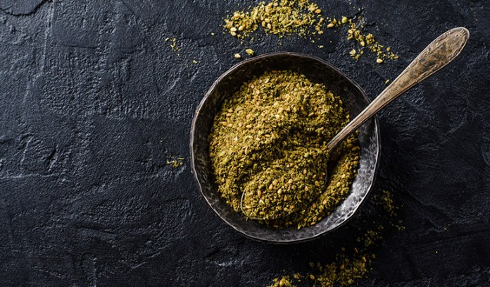 This middle eastern spice blend is great on flatbread.