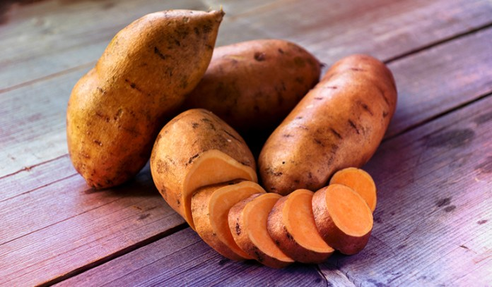 (Foods high in carotenoids such as sweet potatoes help prevent skin cancer