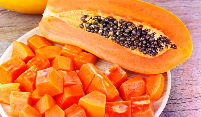 (Ripe papaya can be blended with yogurt for to make a wonderful hair mask.)