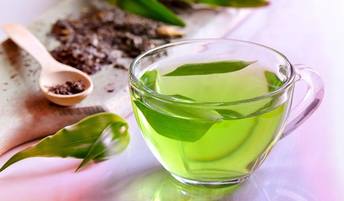 (Green tea is extremely helpful in treating bloating and abdominal gas.