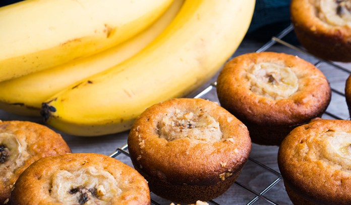 Banana-Bran muffins are nutritious and promote brain health