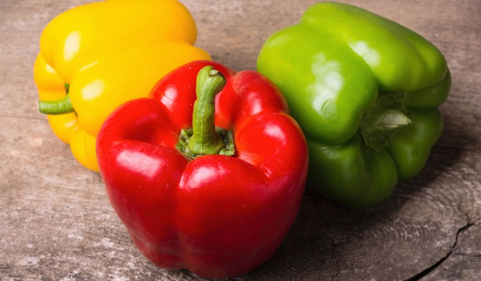 Bell peppers are rich in the antioxidant vitamin C