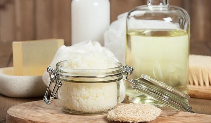 Coconut oil is cheaper to use in a body scrub