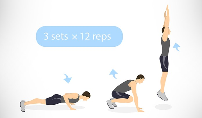 Try burpees to burn fat in multiple areas like your core and legs