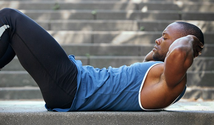 Eliminate excess abdominal fat by doing crunches