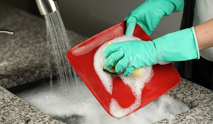 homemade dishwashing liquid with Castille soap