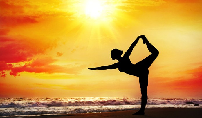 The divine dancer pose is a great full body stretch