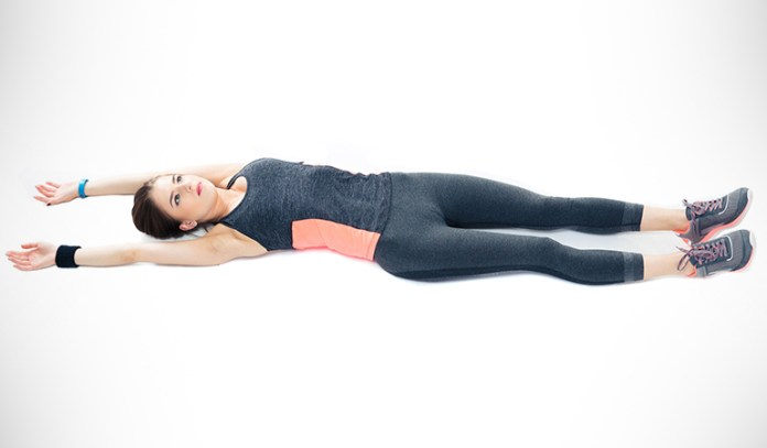 The full body stretch helps strengthen the entire body
