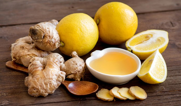 Ginger and lemon can help relieve nausea.