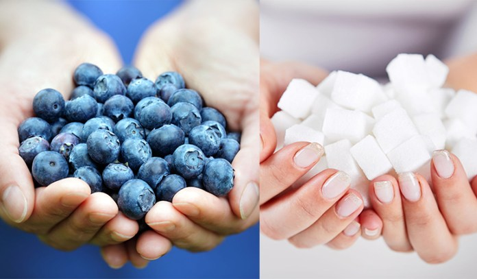 Natural sugars exist naturally in fruits and veggies and are healthy as opposed to added sugars.