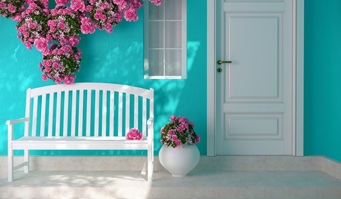 A Clean, Tidy Doorstep Welcomes The Energy Of Love