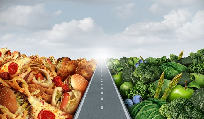 To stay healthy, eat right and stay away from junk, processed foods.