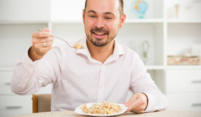 Eating when you're hungry satisfies your hunger