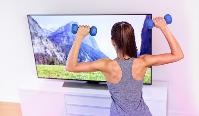 Distracting yourself with TV shows will help you workout longer