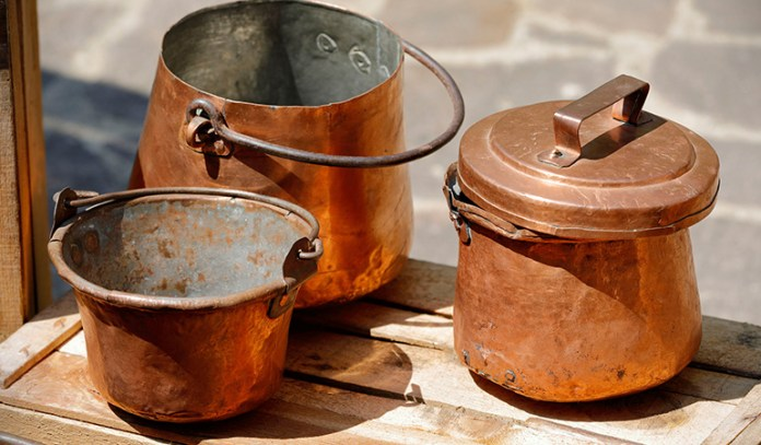 use salt to clean copper and brass