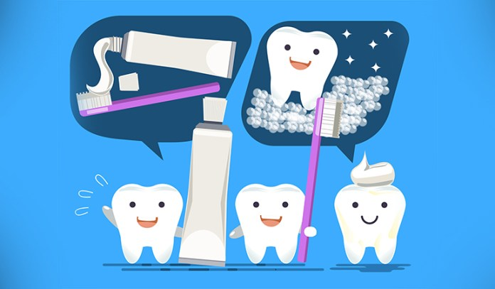 Brush twice a day and avoid eating sticky foods to keep your teeth healthy