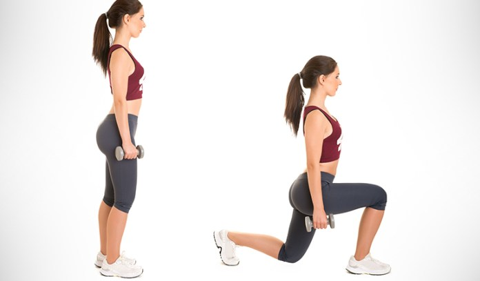 Lunges target lower-body weight.