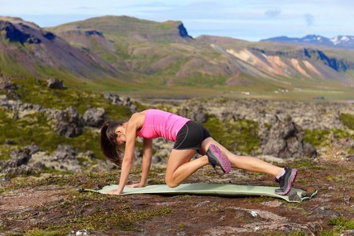 Mountain climbers increase metabolism and burn fat.