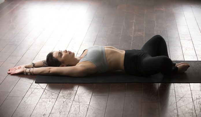 The reclined bound angle pose is a good stretch for all directions