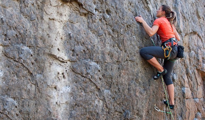 Try rock climbing for a challenging yet fun workout