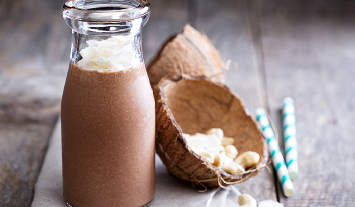 Add coconut oil to smoothies