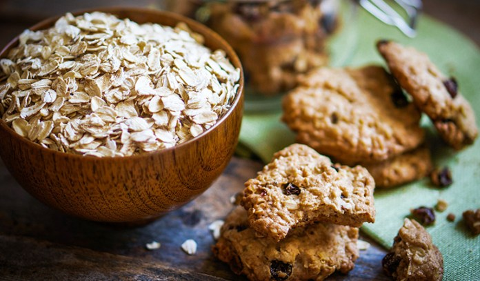 Switch from white flour to oats while baking at home
