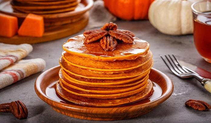 Sweet-potato-pecan pancakes can fight skin damage