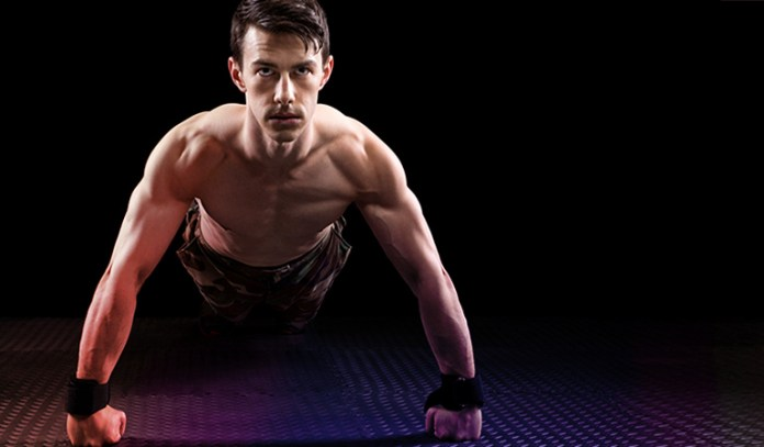 Aztec push-ups require strength and explosive jumping power.