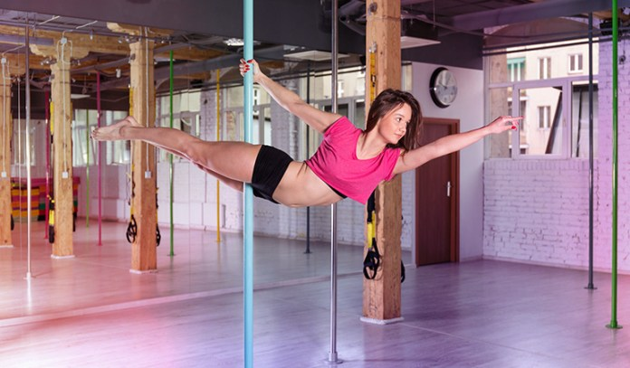 Human flag exercise requires good control over the body.