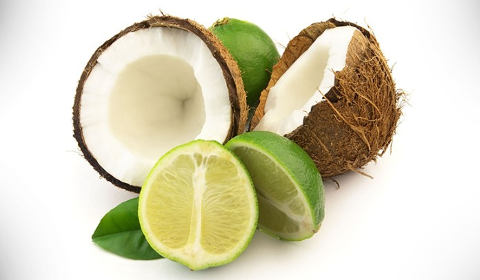 Coconut and lime might straighten hair.