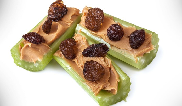 Celery and peanut butter are nutritious.