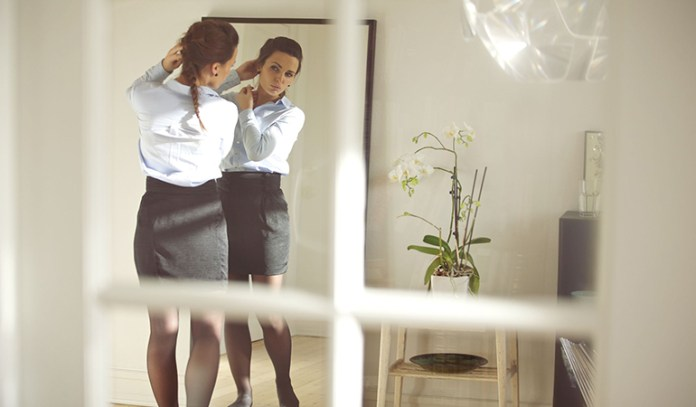 Hanging a mirror too low can affect your self-confidence