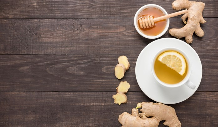 A tea made of ginger, honey, and pepper can effectively relieve throat and nasal congestion