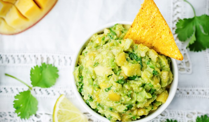Make your own dips, such as mango guacamole.