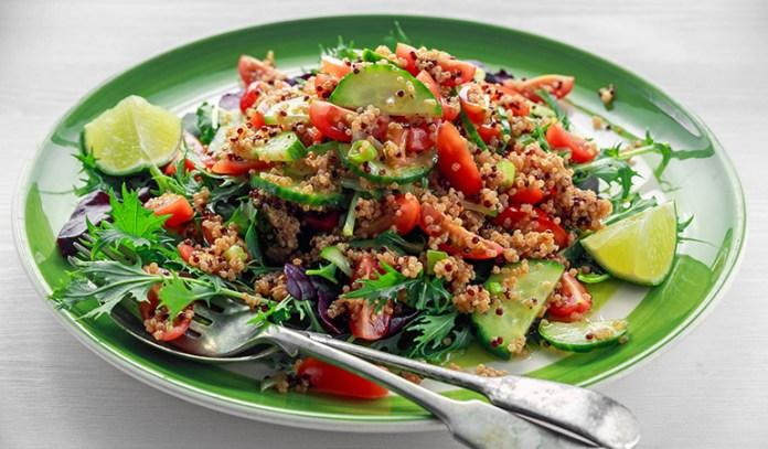 Sweet potato and quinoa reduce hunger pangs.