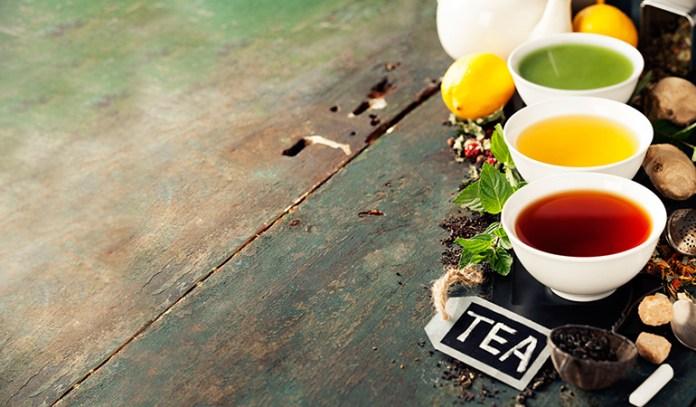 Real teas like black and green teas can help detox the body