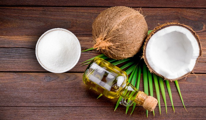 Coconut oil and sugar are the only two ingredients you will need