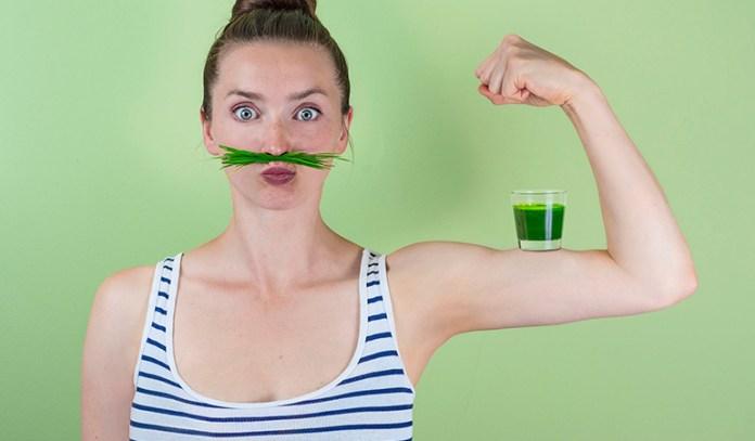 Wheatgrass aids digestion.