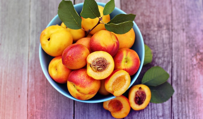 Peaches are a good source of iron