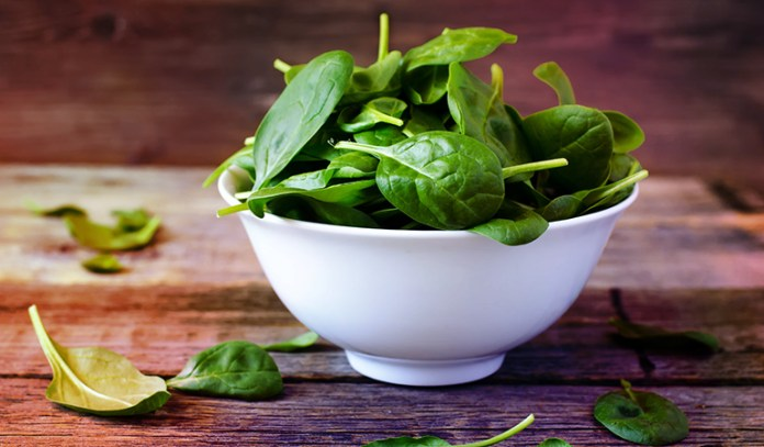 Spinach is a good source of vitamin A.
