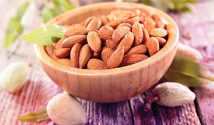 1 oz of almonds has 1.05 mg iron.
