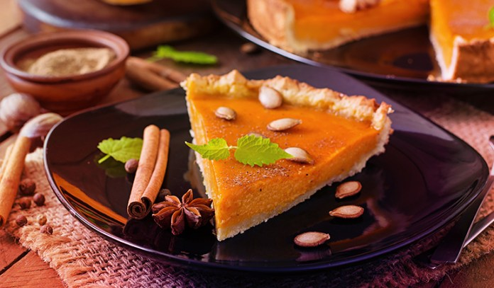 Pumpkin pie is a good source of vitamin A.