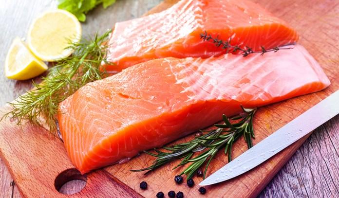 Salmon, Atlantic, wild has 1.22 gm DHA; 0.35 gm EPA