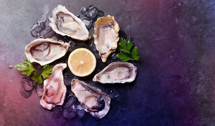 A serving of oysters has 0.14 gm of ALA, 0.23 gm of DHA, and 0.30 gm of EPA.