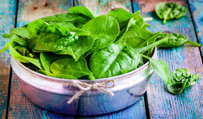 Spinach is a good source of omega 3 fatty acids.
