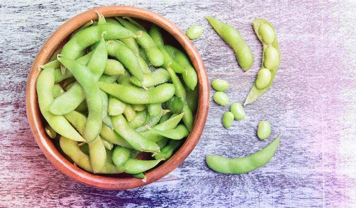 Edamame is a good source of omega 3 fatty acids.
