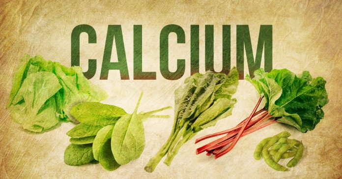 Calcium-rich vegetables include rhubarb stalk and spinach.