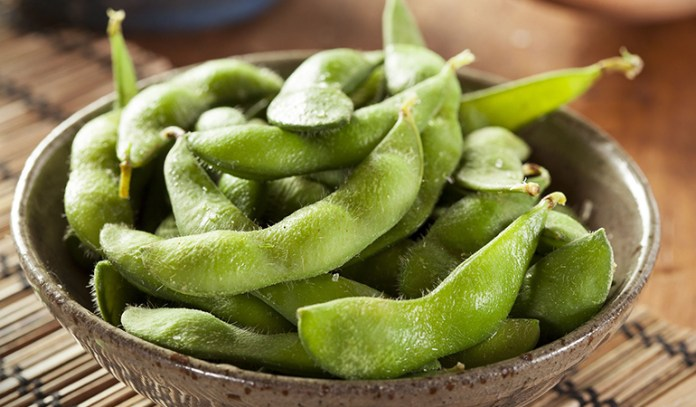 1 cup of edamame, cooked: 98 mg of calcium (7.5% DV)